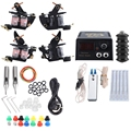 Beginner Complete Rotary Tattoo Kit 2 Tattoo Machine Professional Tattoo Gun Power Supply Power Tip Tube Needles Body Artist