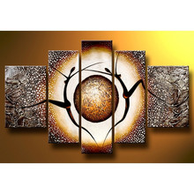 100 Hand painted Modern Abstract Dance Landscape Oil Painting On Canvas Scenery On Wall For font