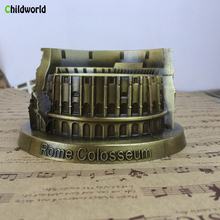 Italy Colosseum Decoration Ornaments Statue Sculpture Ashtray Creative Personalized Metal Crafts Home Accessories