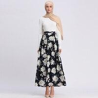 Faldas Mujer Moda 2019 High Waist Abaya Arabic Muslim Skirt Jupe Femme Long Islamic Skirts Womens Lange Rokken Islam Clothing