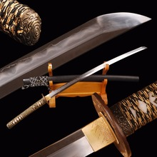 Brandon Swords High Grade Samurai Katana Kobuse Clay Tempered Polished Sharp Full Tang Japanese Sword Metal Home Decoration