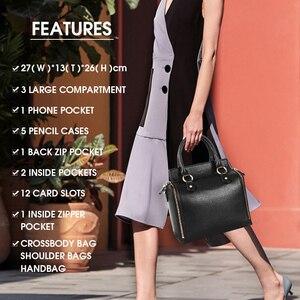 Image 5 - コブラー伝説スーパーオーガナイザーハンドバッグ本革黒メッセンジャーバッグデザイナートップハンドルバッグ女性ソフトランドセル2019