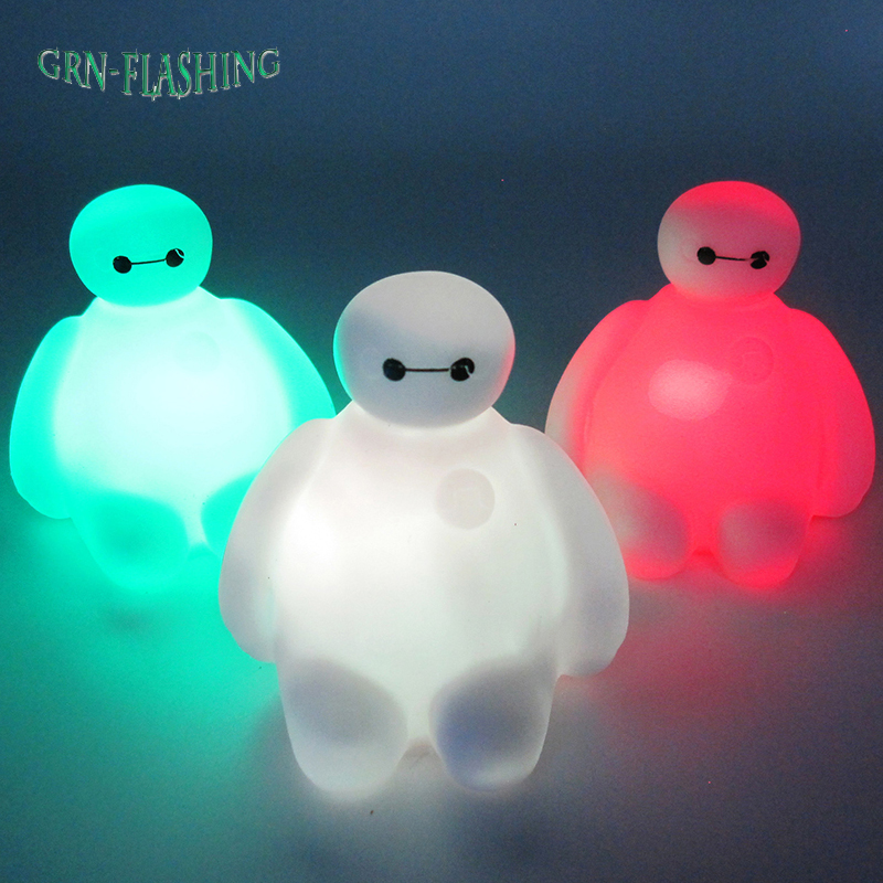 7 Color Changing Big Hero 6 Cartoon BayMax LED Night Light Table Desk Lamp Bedroom Decoration Amazing Kids Baby Toy Gift