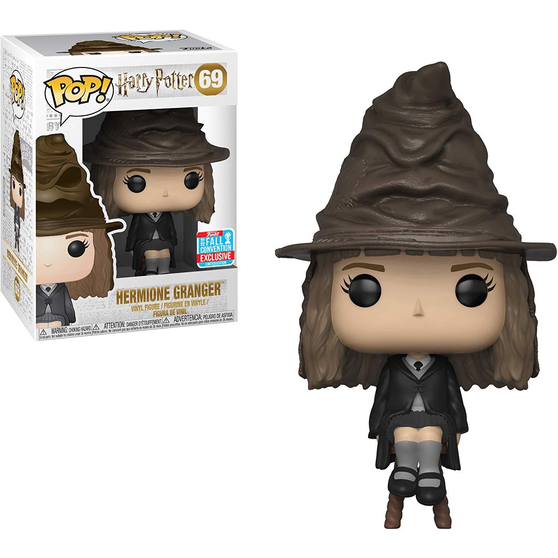 2018 NYCC exclusif Funko pop officiel Harry Potter-Hermione Granger tri chapeau vinyle figurine à collectionner modèle jouet