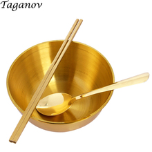 Pure copper Tableware top grade gold Dinnerware Sets home Health nutrition cutlery best gifts for family kids set