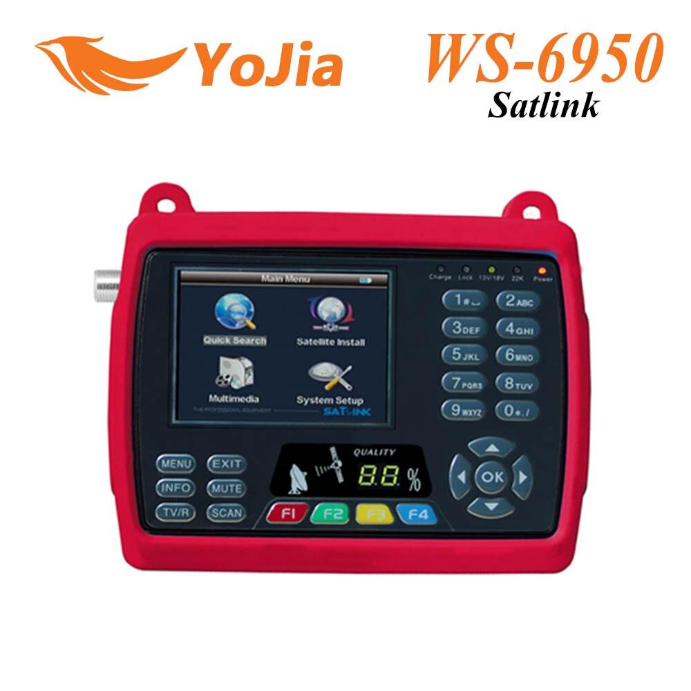 Genuine Satlink WS 6950 3 5 Digital Satellite Signal Finder Meter WS6950 WS 6950 Free