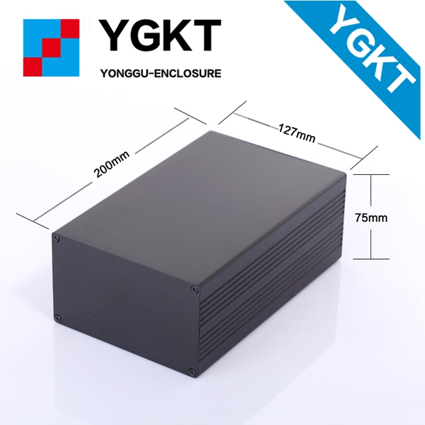 YGS-014 127-75-200 mm (W-H-L)2017 New product Anodized Aluminum for Electronics Pcb Enclosure enclosure for electronic
