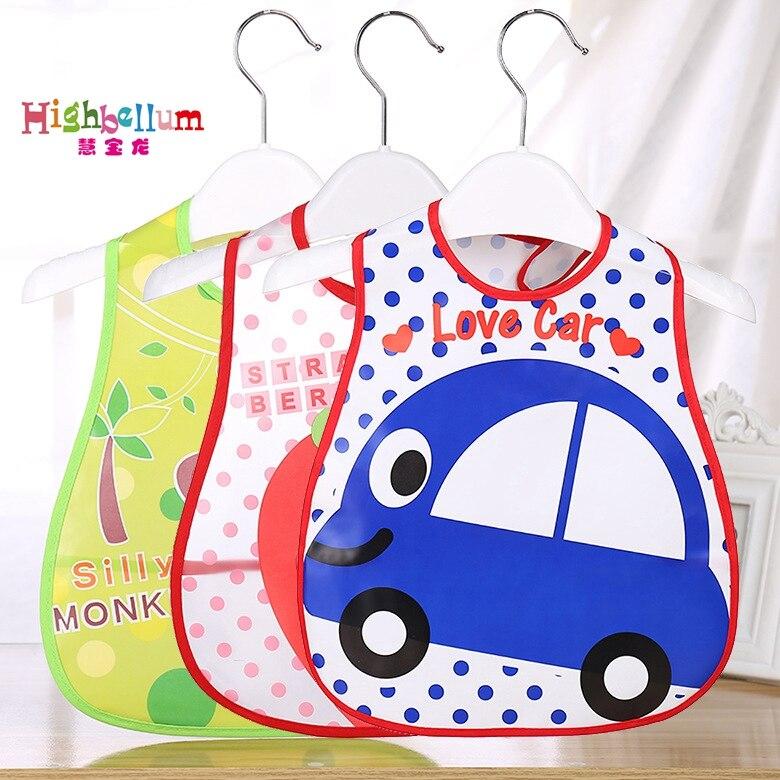 Baby Bibs EVA Waterproof Lunch Bibs Boys Girls Infants Cartoon Pattern Bibs Burp Cloths For Children