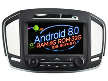 Pantalla IPS Android 8.0 del coche DVD Navi player para Opel Insignia 2014 GPS Suto audio estéreo multimedia