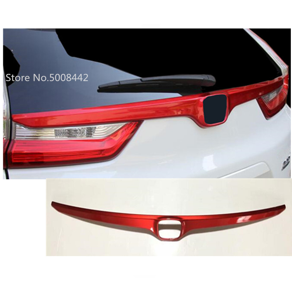 For Honda CRV CR V 2017 2018 2019 car sticks ABS chrome back rear door trunk bottom tailgate frame plate trim hoods 1pcs-in Car Stickers from Automobiles & Motorcycles