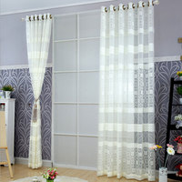 Modern Bedroom Geometric Curtains White Beige Coffee Water Cube Warp Jacquard Curtain For Living Room Tulle