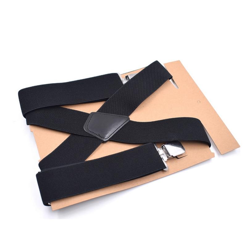 50mm Wide Elastic Adjustable Men Trouser Braces Suspenders X Shape With Strong Metal Clips Suspenders Tirantes Unisex Braces