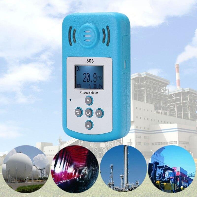 Mini compteur d'oxygène professionnel LCD O2 testeur analyseur de gaz détecteur de Concentration d'oxygène Portable avec alarme de lumière sonore