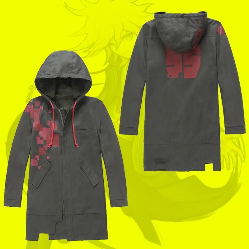 Super Danganronpa 2 Dangan Ronpa Komaeda Nagito Cosplay Zipper Jacket Anime Coat