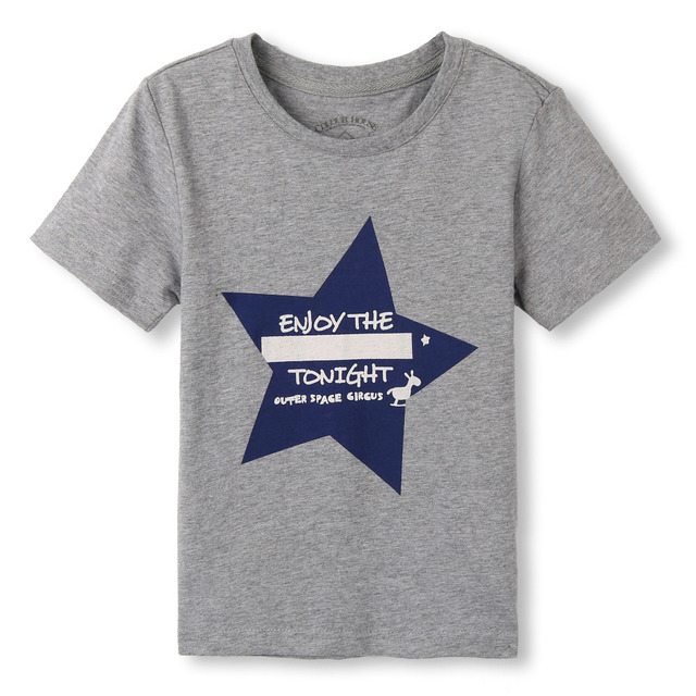 Free Shipping ! Original Designed Premium 100%Cotton Jersey with Star Print Short Sleeve boy's t shirt . Exclusive 4 colors