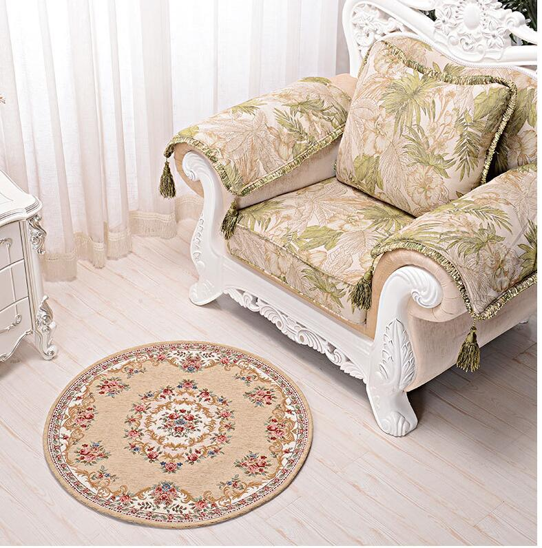 Online Shop Beibehang High End European Style Thick Round Carpet Computer Chair Mats Living Room Coffee Table Swivel Cushion