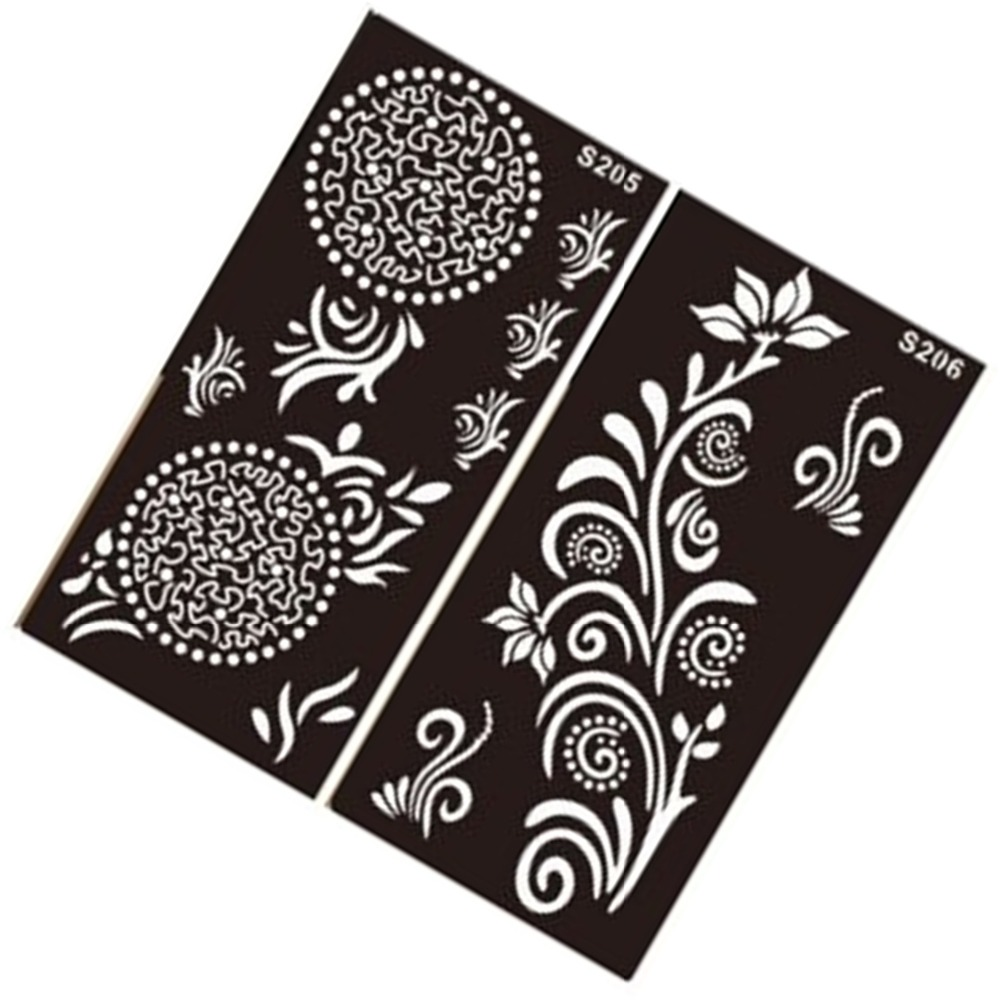 Free Shipping 1pcs Indian Traditional Henna Tattoo Template