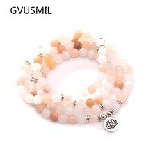 New Design Women`s Beads Bracelet High Quality Pink Aventurine Yoga or Necklace Trendy Jewelry