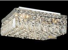 Кристалл Потолок Светильники Современный Потолок Свет 120 В 220 В Chrome Потолочный Светильник Освещение Лампы Гарантировано 100% + Бесплатная Доставка доставка!