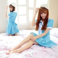 Anime K-ON! japon Bonne Robe Sexy Cosplay Costume Bleu couleur Serveuse Costume Femmes Filles Mignon Vêtements Robe + Chapeau Uniforme Outfit
