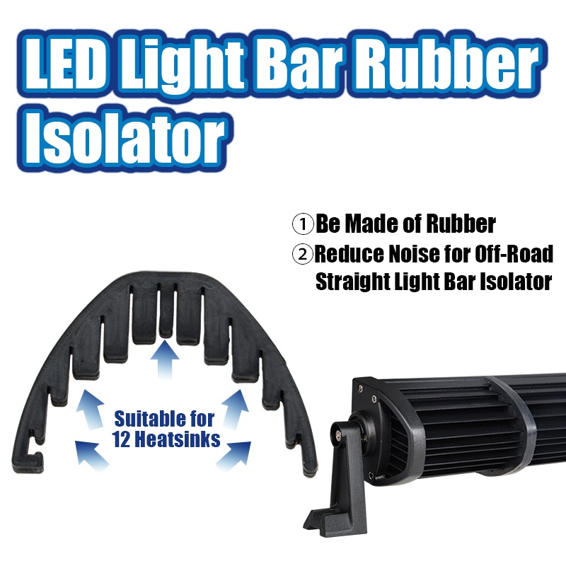 Rubber Isolator Reduce Wind Noise for Jeep Off road SUV 22 inch 32 inch 42 inch 50 in 52 inch Double Rows Straight Led Light Bar in Car Light Accessories from Automobiles Motorcycles