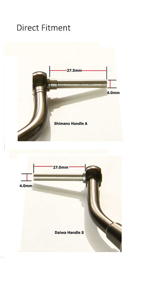 Gomexus Reel Handle Power Knob For Daiwa Saltist 2500 - 4000 Direct Daiwa BG Penn Battle II 1000 - 4000 Drill 38mm