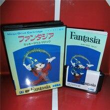 Фантазия Япония чехол с коробкой и руководство для MD MegaDrive Genesis игровая консоль 16 бит MD карта