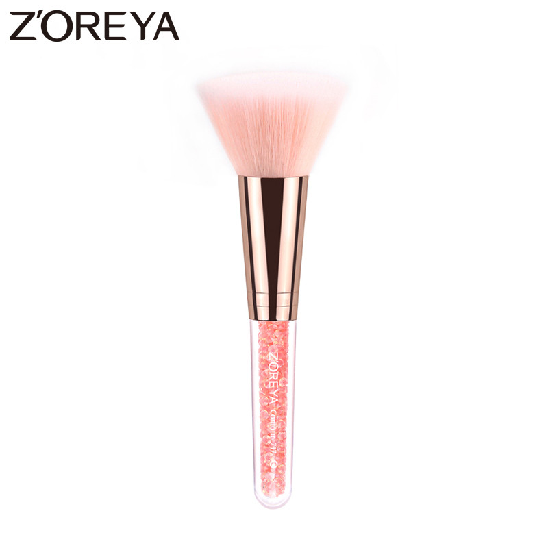 Zoreya Brand Super Synthetic Hair Cosmetic Powder Blending Makeup Contour Brushes Blush wholesale pink color available zoreya brand super quality nylon hair cosmetic powder brushes make up brushes women ultimate blending brushes for black