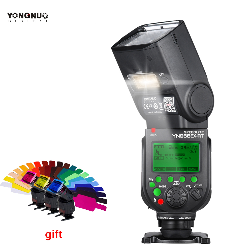 YONGNUO YN968EX-RT TTL Wireless Flash Speedlite with LED Light Compatible with YN-E3-RT\YN600EX-RT for Canon 600EX-RT\ST-E3-RT