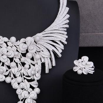 GODKI Luxury Lariat Flower African Cubic Zircon CZ Nigerian Jewelry sets For Women Wedding Dubai Gold Bridal Jewelry Set 2019 4