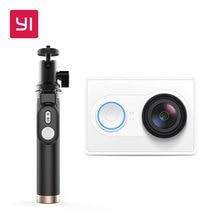 YI 1080 P Câmera de Ação Com Selfie Vara Branco High-definition 16.0MP 155 Graus Ângulo 3D Redução de Ruído Internacional edição