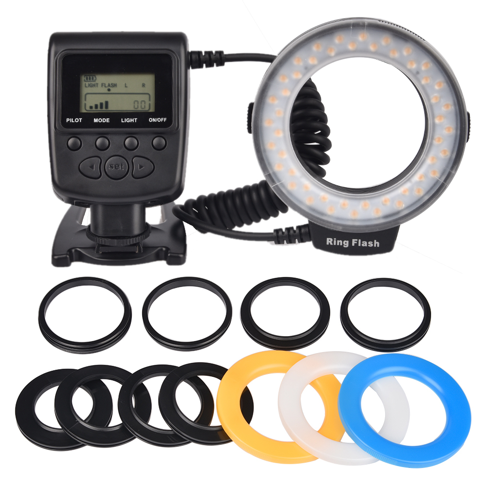 SUPON 48pcs RF 550 LED Macro Ring Flash Light for Sony DSLR Camera DV LCD Display