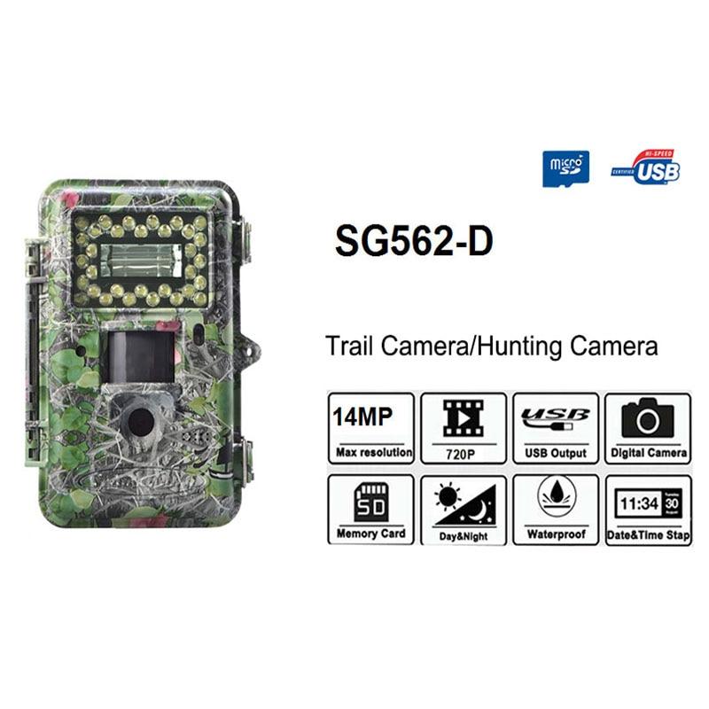 Nueva foto trampas ScoutGuard SG562-D blanco LED con flash 14MP 100ft detección vida silvestre Trail cámara y seguro de la cámara