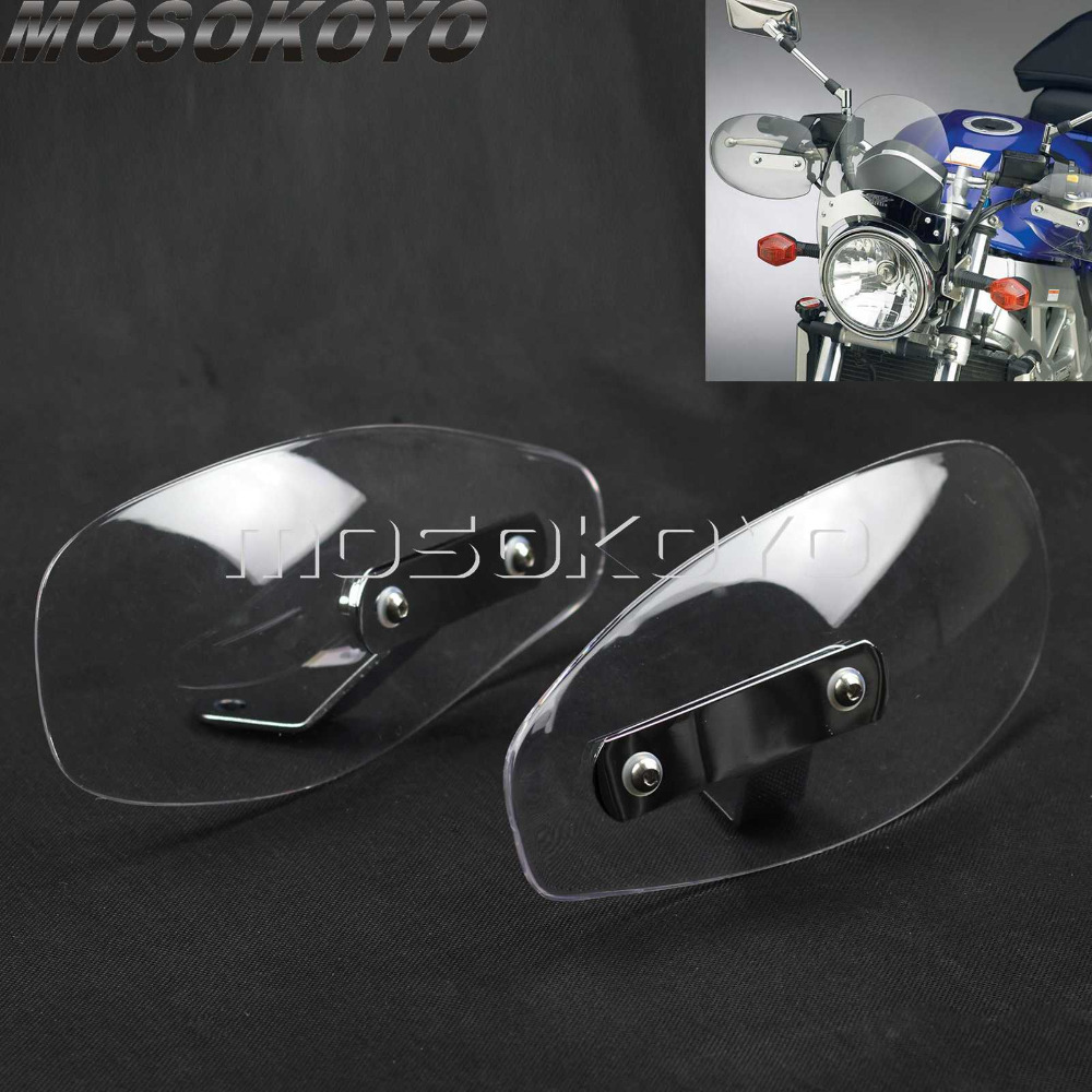 Universal Motorcycle Clear Handguard Deflector Shield Hand Protector for Suzuki Boulevard M109R M50 M90 M95 C50 Лобовое стекло