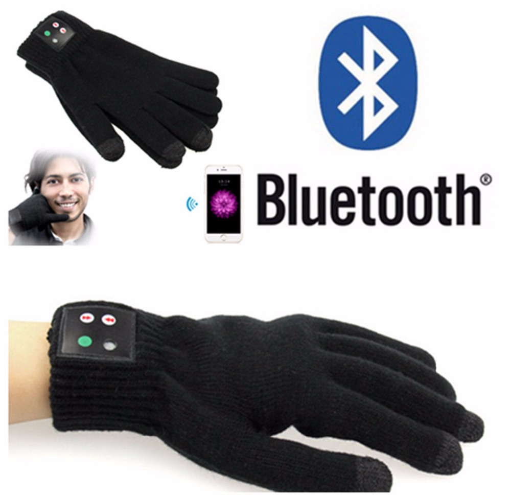 Bluetooth Screen Touch Gloves With Built-in Speaker And Microphone Chargeable With Lithium Battery Winter Knit Warm Mittens