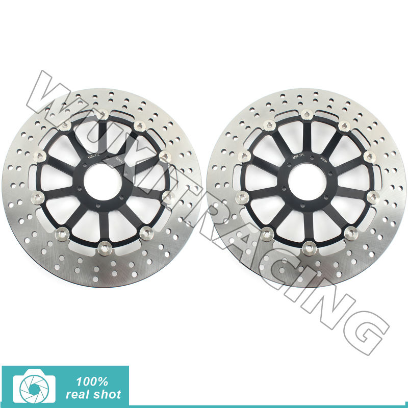 Round New Front Brake Discs Rotors fit for Honda CB F HORNET/ 599 600 00 01 02 03 04 05 06 S F2 600 00 01 02 03 04 mf2300 f2