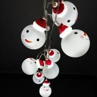 10 / 20LED Children Room Night Light Christmas Snowman Elderly man lights a string Christmas party decoration pendant