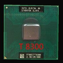 Intel core t8300 cpu 3m cache, 2.4 ghz, 800 mhz fsb, processador portátil duplo-núcleo para 965