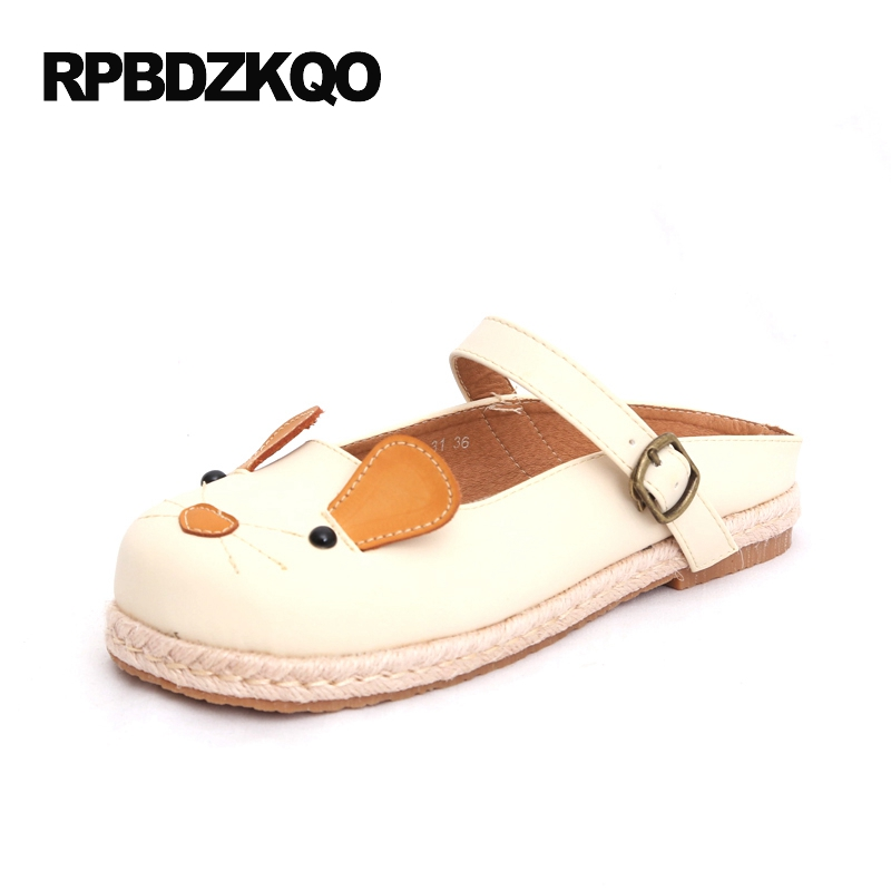 Flats Size 35 Ladies Beautiful Shoes Animal Print Embellished Slip On Nude Cute Rope 2017 Cartoon Round Toe Women Fashion Latest ladies beautiful flats shoes black female large size casual fur glitter women slip on comfy 10 winter bling drop shipping latest