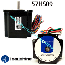 Free Shipping GENUINE Leadshine step motor 57HS09 rated current 2.8 A NEMA 23 with 0.9 Nm torque 8 lead wires 56 mm length недорого