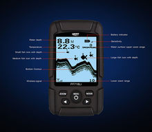 LUCKY FF718Li-W 45m 2.5 inch LCD Fish Finder Wireless Sonar Fishfinder High Accuracy Free shipping