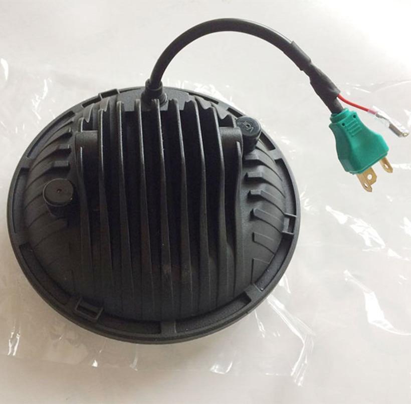 7 Inch Putaran LED Headlight 75W 5D Tinggi rendah Putih Angel Eye - Lampu mobil - Foto 4