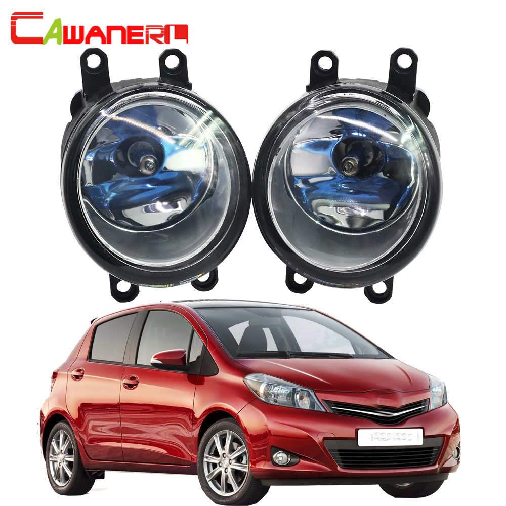 Cawanerl For 2006-2013 Toyota Yaris 100W H11 Warm White Car Halogen Fog Light Daytime Running Lamp DRL 12V High Power 2 Pieces cawanerl for toyota highlander 2008 2012 car styling left right fog light led drl daytime running lamp white 12v 2 pieces
