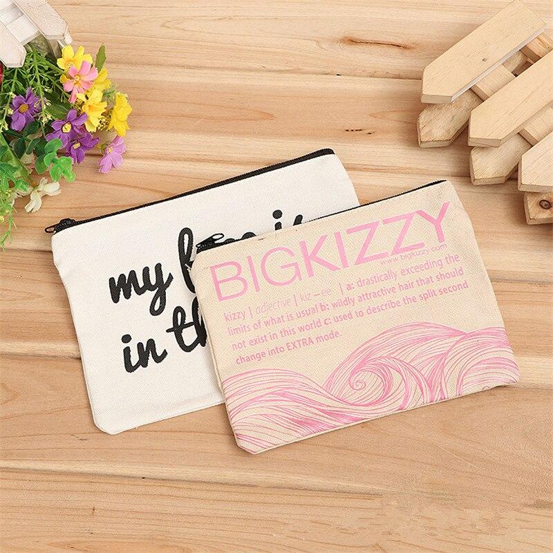 300pcs lot blank canvas zipper Pencil cases pen pouches cotton cosmetic Bags makeup bags Mobile phone
