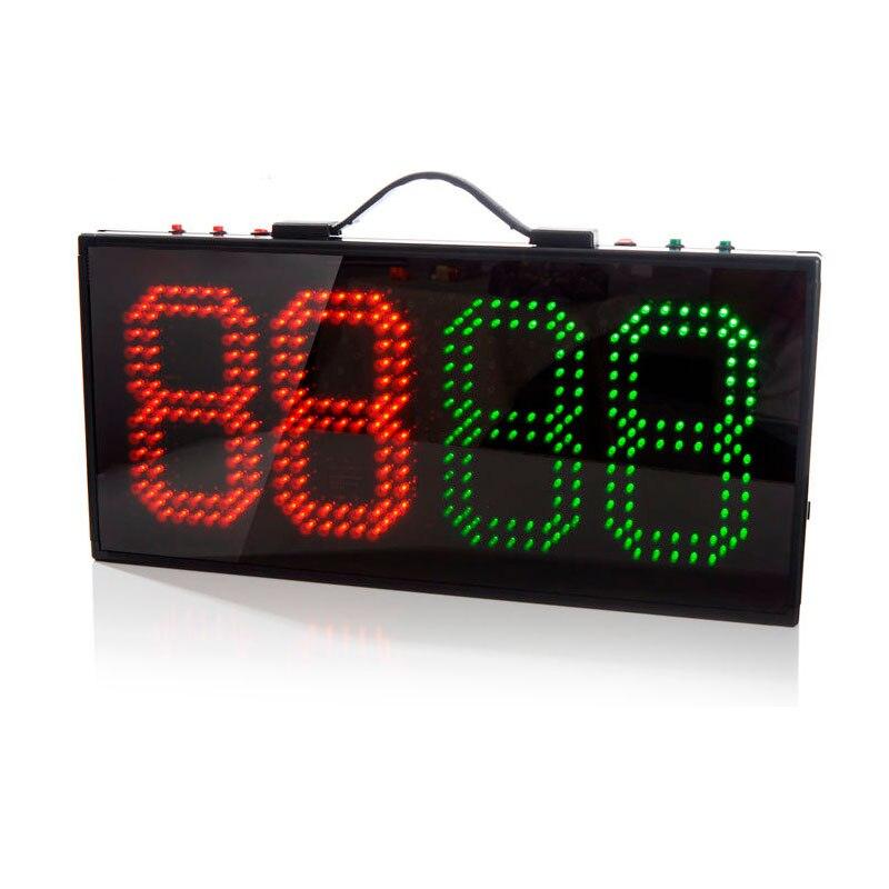 LED Portable de Football changement lecteur soccer substitution conseil 1 côté affichage Charge batterie match De Sport matériel arbitre