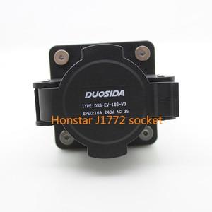 Image 3 - Duosida ZENCAR EVSE EV female socket SAE J1772 type 16A 32A electric  Charging charger side