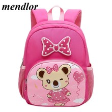 2019 Cartoon Kids Backpacks Mini Kindergarten schoolbag Backpack Children School Bags for Girls Boys Waterproof Backpack Satchel(China)