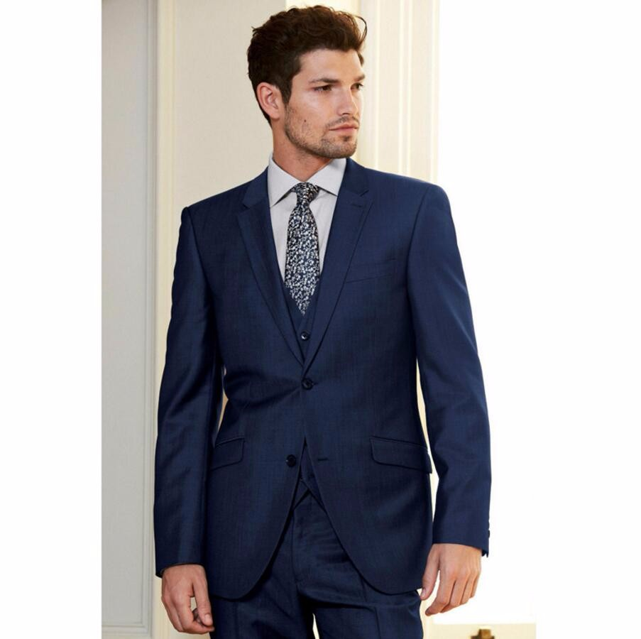 9.1 New Custom Made Handmade Royal Blue 3 Piece Slim Fit Suits Bridal Tuxedos Wedding Suits Formal Evening Suits