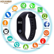 лучшая цена NEW Smart Band Waterproof with Heart Rate Monitor Smart Bracelet Fitness Tracker Pedometer Wristband for Women Men Sport Watch