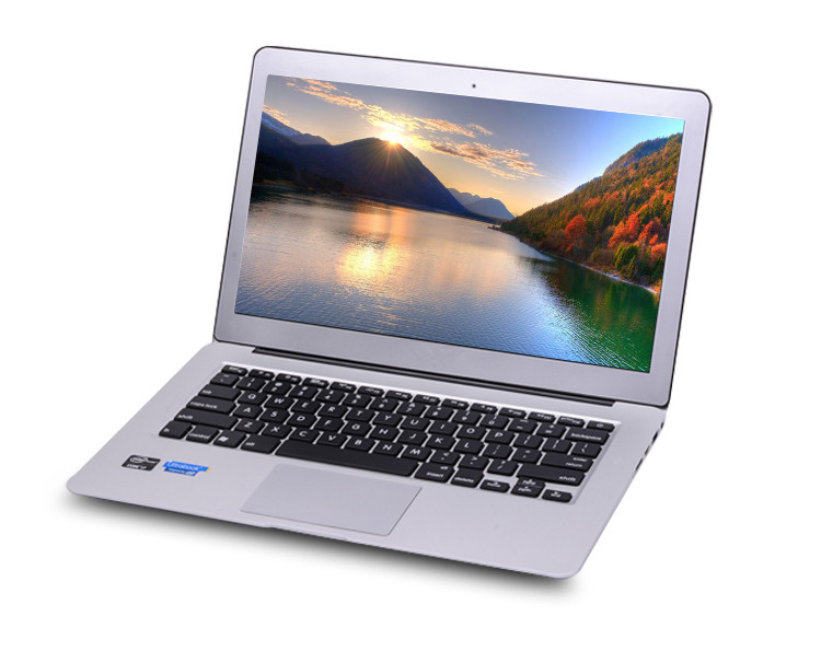 13.3 inch Aluminum Metal Case Ultrabook MINI Laptop I5 6.5hours 2GB RAM 64GB SSD with backlit